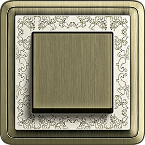Gira ClassiX Art Bronze-Cremeweiß/Bronze