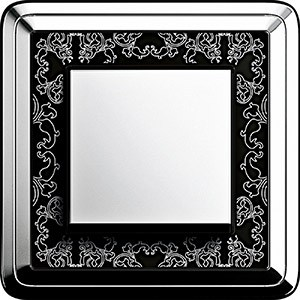 Gira ClassiX Art Chrome-Schwarz/Chrome