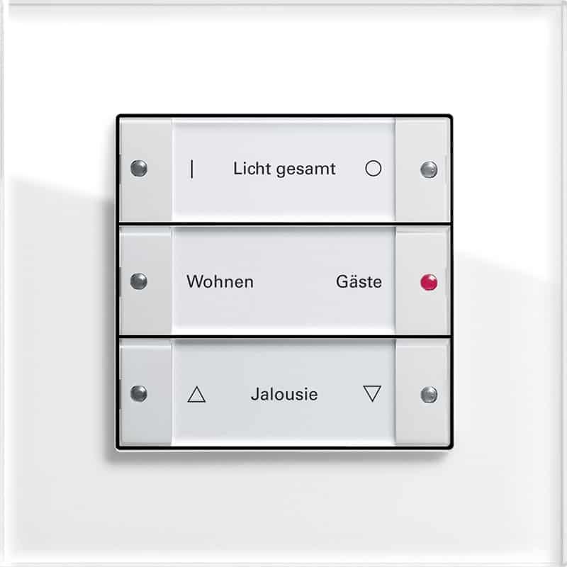 Gira Tastsensor 3, Gira Esprit Glas weiß